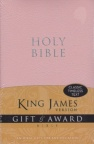 KJV - Gift & Award Bible, Pink Leather-Look - GAB