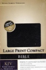 KJV - Large Print Compact Bonded Leather Black