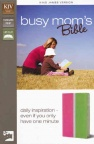 KJV Busy Mom's Bible - Duo-Tone, Pink/Spring