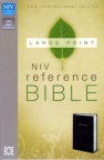 NIV - Large Print, Reference Bible, Black Leather Look