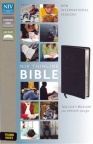 NIV - Thinline Bible Black Boned Leather Thumb Index