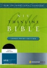 NIV Thinline Bible - Large Print Black Bonded Leather