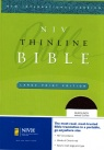 NIV Thinline Bible - Large Print Edition - Burgundy Bonded Leather