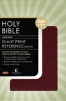 NKJV - Giant Print Reference Bible Leatherflex, Burgundy