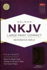 NKJV - Large Print Compact Reference Bible, Charcoal