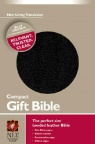 NLT Compact Gift Bible Black Bonded Leather - GAB