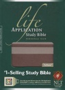 NLT  Life Application Study Bible Personal Size, Taupe / Stone